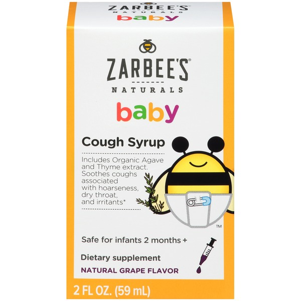 Zarbee's Naturals Baby Cough Syrup, Natural Grape Flavor Dietary Supplement