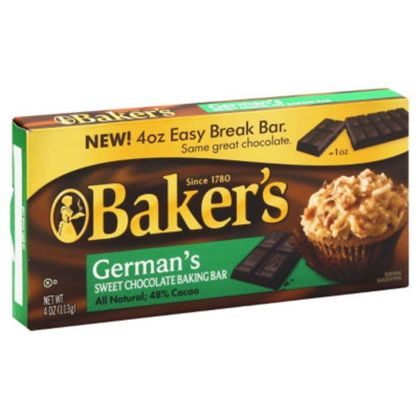 Baker's German's Sweet Baking Chocolate Bar