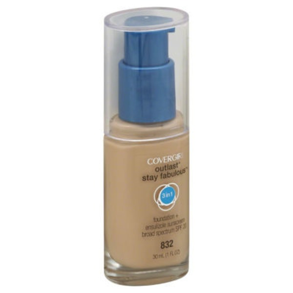 CoverGirl Outlast All Day COVERGIRL Outlast All-Day Stay Fabulous 3-in-1 Foundation, Nude Beige 1 fl oz (30 ml) Female Cosmetics