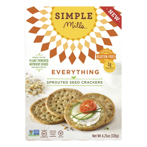Simple Mills Everything Gluten Free Sprouted Seed Crackers