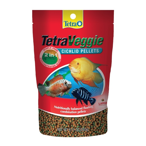Tetra Veggie Cichlid Large Food Pellets