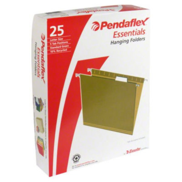 Pendaflex Essentials Letter Size Hanging Folders