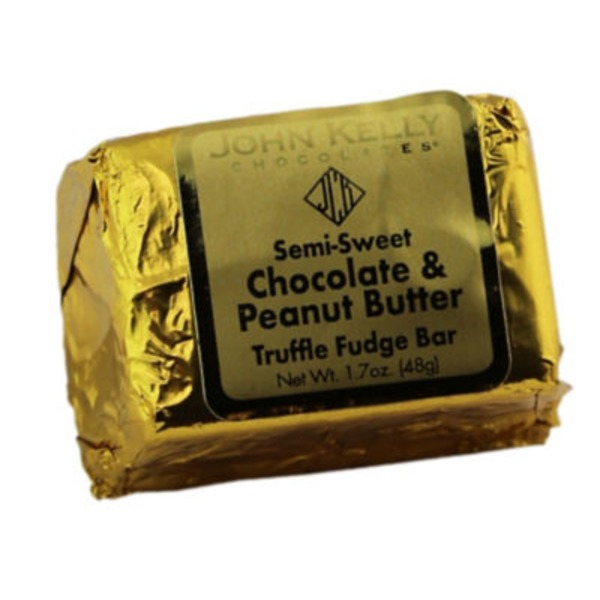 John Kelly Chocolates Semi-Sweet Chocolate & Peanut Butter Truffle Fudge Bar