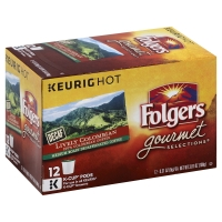 Folgers Gourmet Selections Coffee Pods K Cups 100% Colombian Decaffeinated