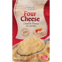 Great Value Four Cheese Complete Potatoes, 4 oz