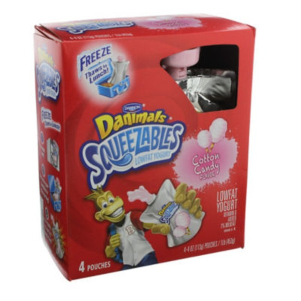 Danimals Squeezables Cotton Candy Lowfat Yogurt