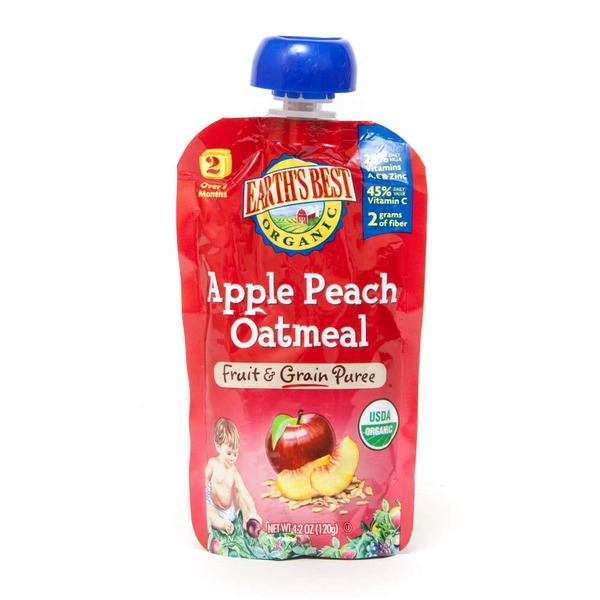 Earth's Best Organic Fruit & Grain Puree Apple Peach Oatmeal