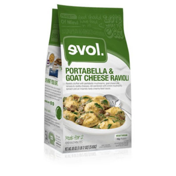 Evol Foods Goat Cheese and Portabello Ravioli