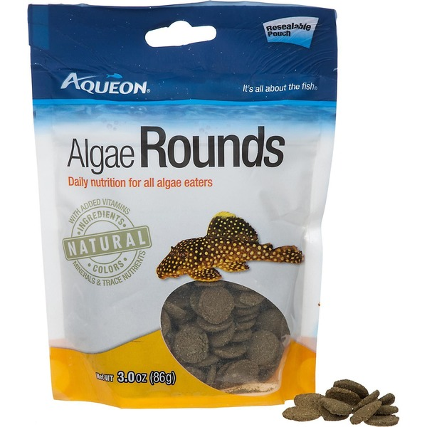 Aqueon Algae Rounds Algae Eater Fish Food