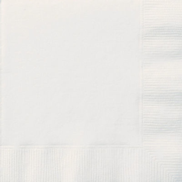 Unique Bright White Lunch Napkins