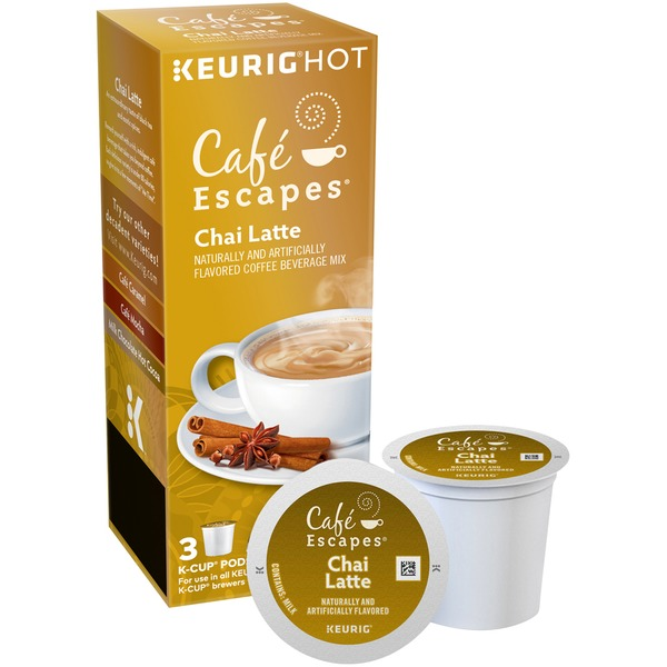 Cafe Escapes Chai Latte K-Cup Pods Coffee