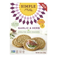 Simple Mills Crackers, Sprouted Seed, Garlic & Herb