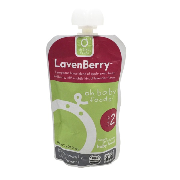Oh Baby Foods Organic Lavenberry Puree Level 2