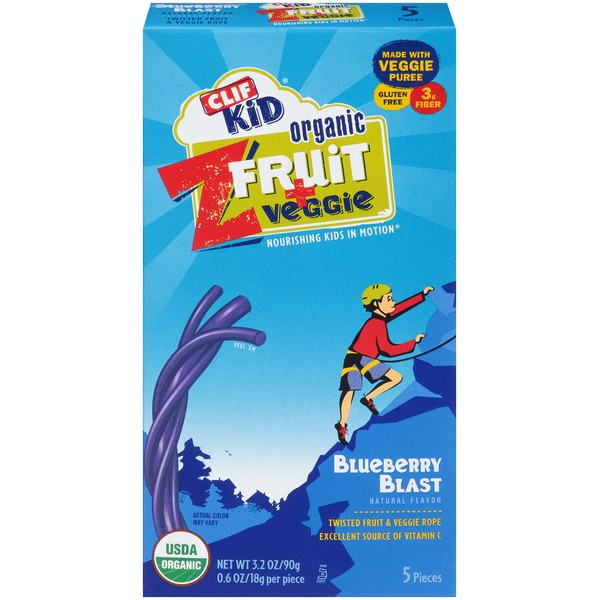 Clif Kid® Organic ZFruit + Veggie Blueberry Blast Twisted Fruit Rope