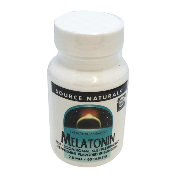 Source Naturals Melatonin 2.5 Mg Peppermint Flavored Sublingual Tablets