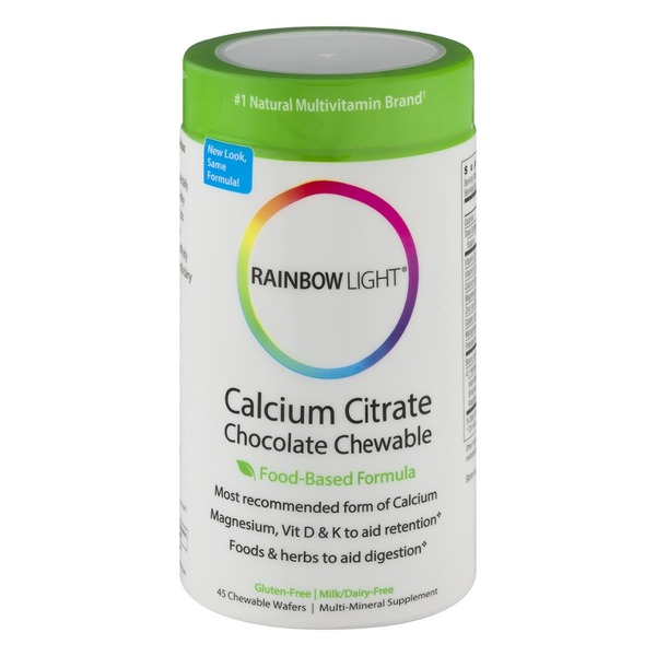 Rainbow Light Calcium Citrate Chocolate Chewable Multi-Mineral Supplement - 45 CT