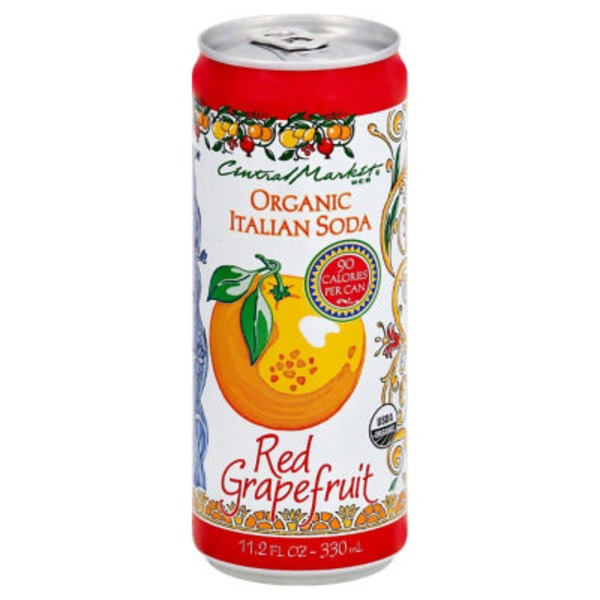 Central Market Organic Red Grapefruit Italian Soda