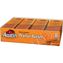 Austin Cheese Crackers with Peanut Butter, 1.38 oz, 8 pack