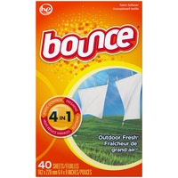 Bounce Fabric Softener Dryer Sheets Outdoor Fresh 40CT Fabric Enhancers