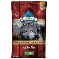 Blue Buffalo Food for Dogs, Natural, Rocky Mountain Recipe, Adult, with Red Meat and LifeSource Bits