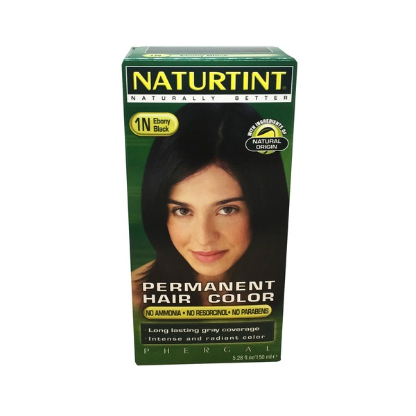 Naturtint Permanent Hair Color, Ebony Black 1N