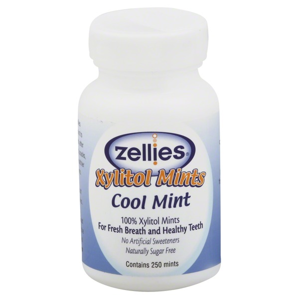 Zellies Xylitol Mints, Cool Mint
