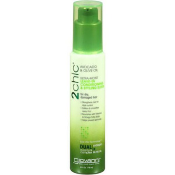 Giovanni 2Chic Ultra-Moist Leave-In Conditioning & Styling Elixir Avocado & Olive Oil