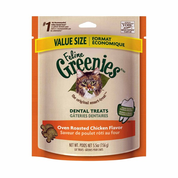 Feline Greenies Dental Oven Roasted Chicken Flavor Cat Treats