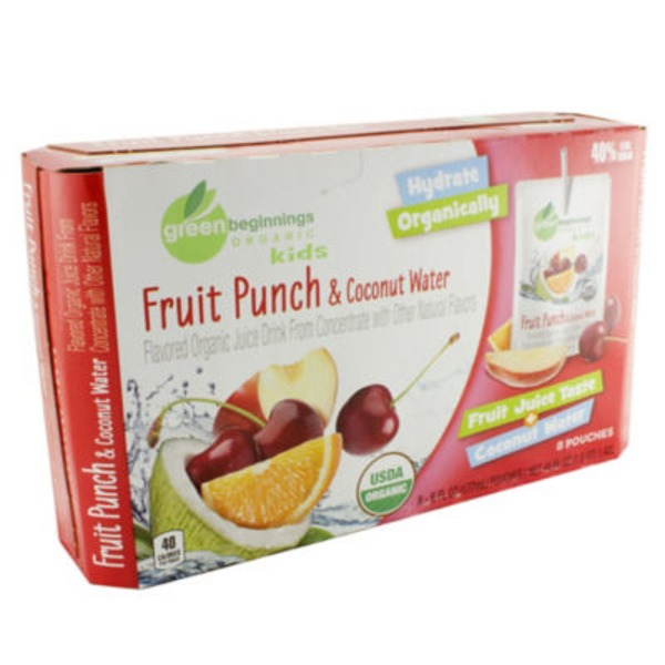 Green Beginnings Organic Kids Fruit Punch Juice & Coconut Water