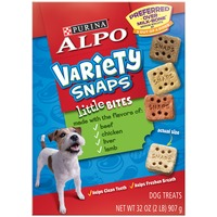 Alpo Treats Variety Snaps Little Bites with Beef Chicken Liver & Lamb Flavors Dog Treats