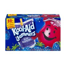 Kool-Aid Jammers Fruit Juice Pouches, Blue Raspberry, 6 Fl Oz, 10 Count