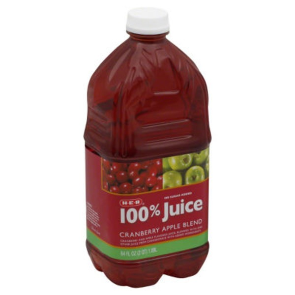 H-E-B 100% Cranberry Apple Juice Blend From Concentrate