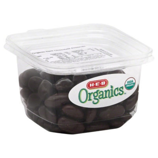 H-E-B Organics Dark Chocolate Almonds