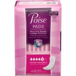 Poise Incontinence Pads with Side Shields, Maximum Absorbency, 48 CT