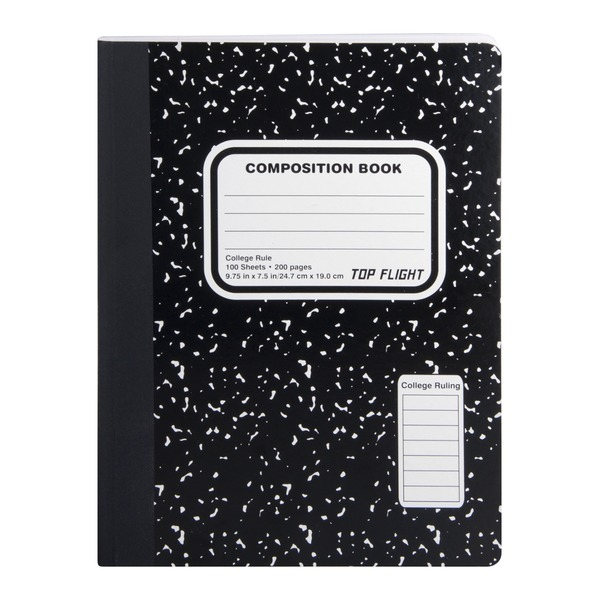 Top Flight Composition Book College Rule 100 Sheets