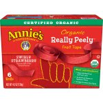 Annie's Organic Really Peely Fruit Tape Swirly Strawberry, 6 ct, 4.5 oz, 6.0 CT