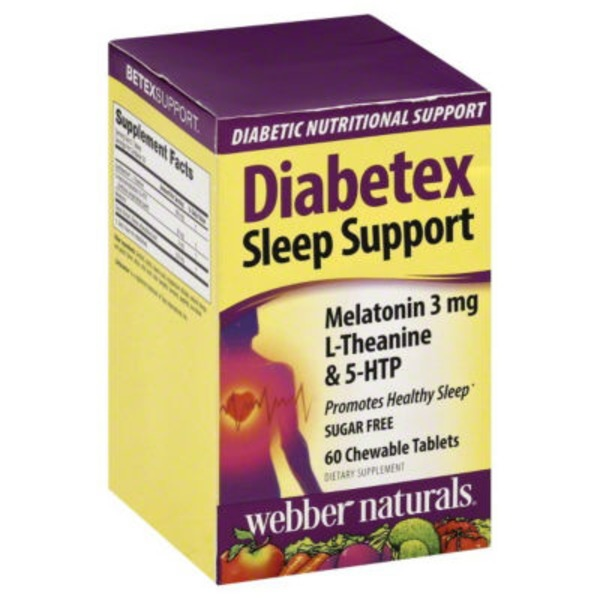 Webber Naturals Diabetex Sleep Support Dietary Supplement Tablets