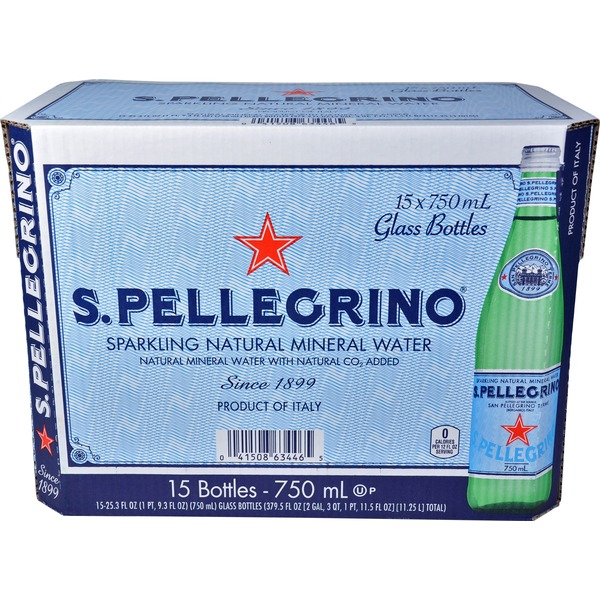 Pellegrino 750 mL Sparkling Natural Mineral Water