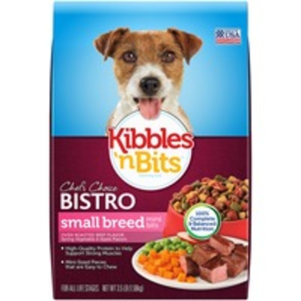 Kibbles 'n Bits Bistro Small Breed Mini Bits Oven Roasted Beef Flavor with Spring Vegetable & Baked Apple Flavors Dry Dog Food