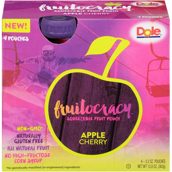 Dole Fruitocracy Apple Cherry Squeezable Fruit