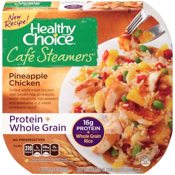 Healthy Choice Pineapple Chicken Cafe Steamers