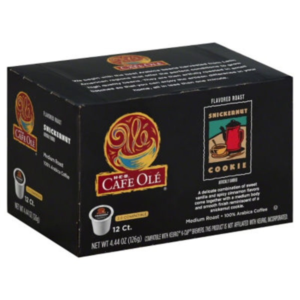 H-E-B Cafe Ole Snickernut Single Serve Coffee