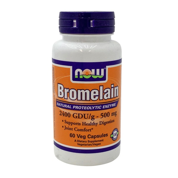 Now Bromelain 2400 GDU/g- 500 mg