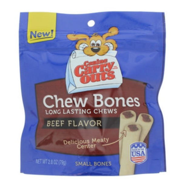 Canine Carry Outs Chew Bones Beef Flavor Dog Snacks