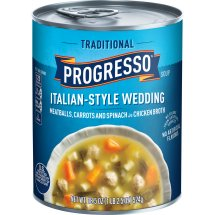 Progresso Soup, Traditional, Italian-Style Wedding Soup, 18.5 oz Can, 18.5 OZ