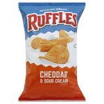 Ruffles Cheddar & Sour Cream Potato Chips, 8.5 oz Bag