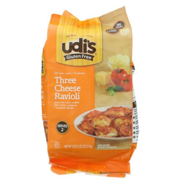Udi's Gluten Free Three Cheese Ravioli Frozen Entree