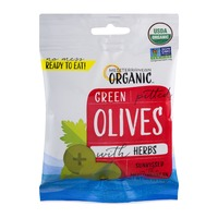 Mediterranean Organics Green Pitted Olives with Herbs