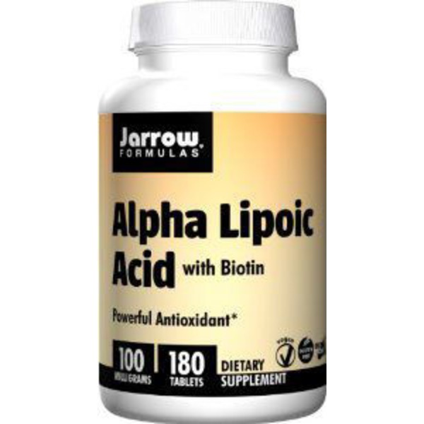 Jarrow Alpha Lipoic Acid with Biotin 100 mg Easy-Solv Tablets