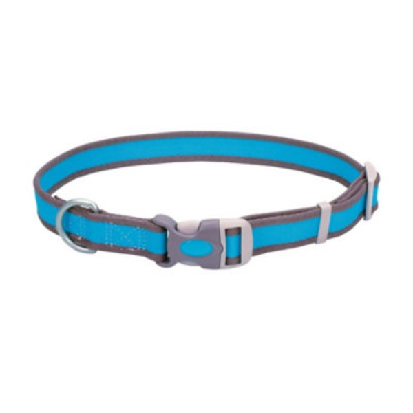 Coastal Pet Pet Attire Pro Bright Blue With Grey 3/4 Inch Adjustable Collar